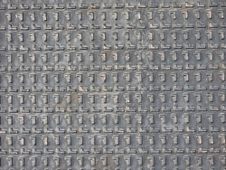 Grunge and rust solid metal texture in grid