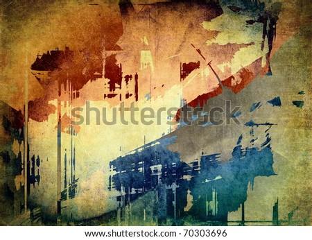 Grunge art background