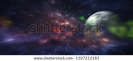 Grunge backboard texture with zoom effect filtered. Abstract background. Particle or space traveling. Particle zoom background. Stars, space, light Interstellar, galaxy, time travel. - Shutterstock ID 1107212183