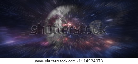 Grunge backboard texture with zoom effect filtered. Abstract background. Particle or space traveling. Particle zoom background. Stars, space, light Interstellar, galaxy, time travel. - Shutterstock ID 1114924973