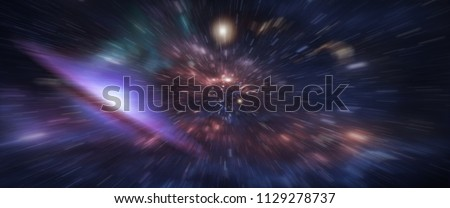 Grunge backboard texture with zoom effect filtered. Abstract background. Particle or space traveling. Particle zoom background, quantum mechanics, speed of light for Quantum. - Shutterstock ID 1129278737