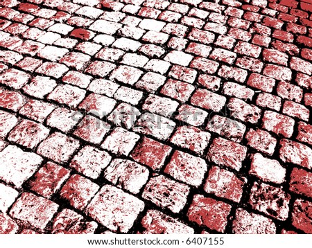 Grunge Background -black, white and red