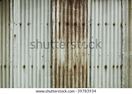 Grunge background made of corrugated metal sheets