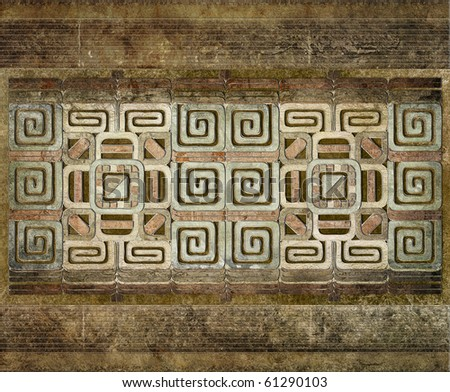 grunge background of american indian pattern
