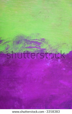 Grunge Background Of Green And Purple Painted Wall Stock