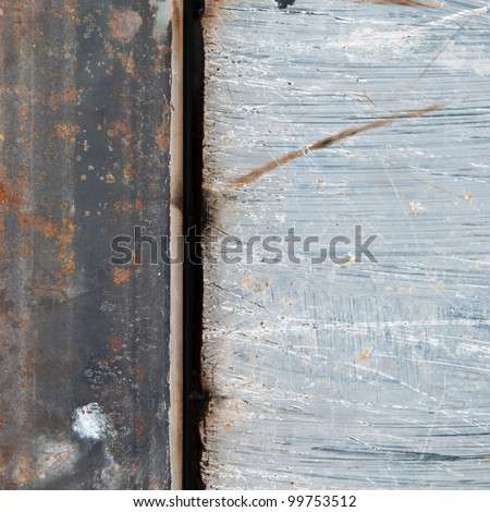 Grunge background of metal wall