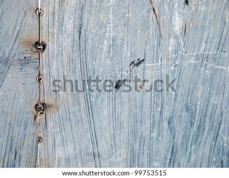 Grunge background of metal wall - stock photo