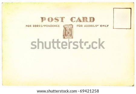 Grunge background old postcard