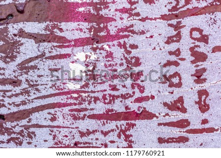 Grunge background with abstract colored texture. Old  scratches, stain, paint splats, spots. #1179760921
