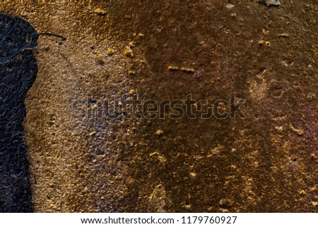 Grunge background with abstract colored texture. Old  scratches, stain, paint splats, spots. #1179760927