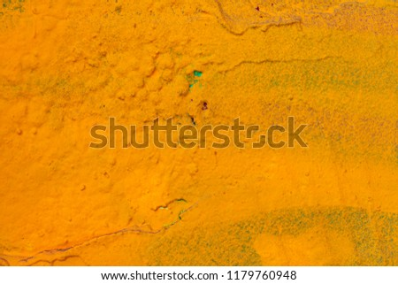 Grunge background with abstract colored texture. Old scratches, stain, paint splats, spots. #1179760948