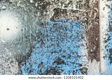 Grunge background with abstract colored texture. Old scratches, stain, paint splats, spots. #1208101402