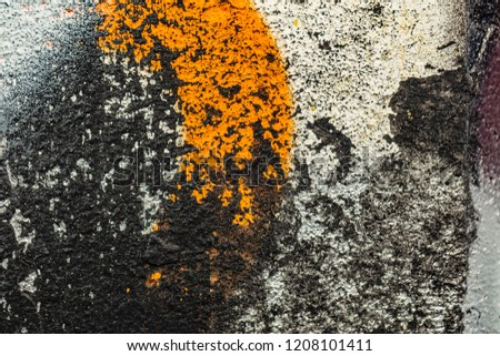 Grunge background with abstract colored texture. Old scratches, stain, paint splats, spots. #1208101411