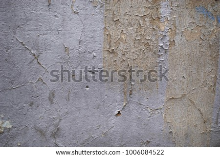 Grunge background with abstract colored texture. Old vintage scratches, stain, paint splats, spots. #1006084522