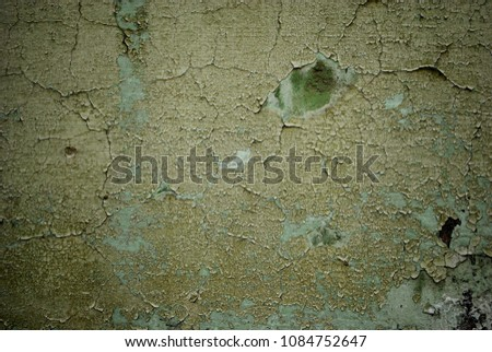 Grunge background with abstract colored texture. Old vintage scratches, stain, paint splats, spots. #1084752647
