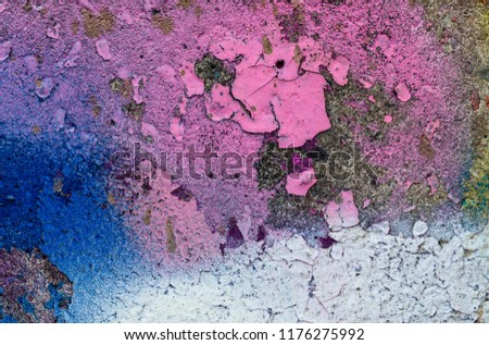 Grunge background with abstract colored texture. Old vintage scratches, stain, paint splats, spots. #1176275992