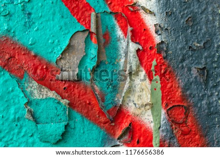 Grunge background with abstract colored texture. Old vintage scratches, stain, paint splats, spots. #1176656386