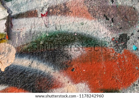 Grunge background with abstract colored texture. Old vintage scratches, stain, paint splats, spots. #1178242960