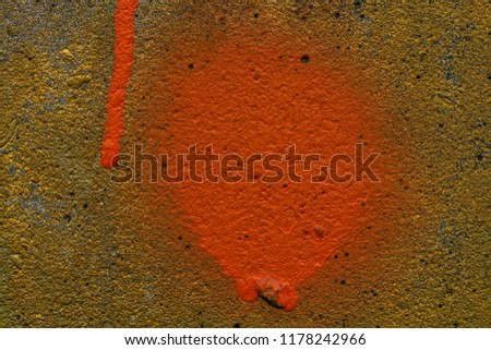 Grunge background with abstract colored texture. Old vintage scratches, stain, paint splats, spots. #1178242966