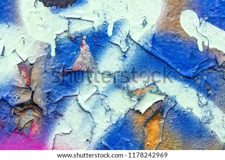 Grunge background with abstract colored texture. Old vintage scratches, stain, paint splats, spots. #1178242969