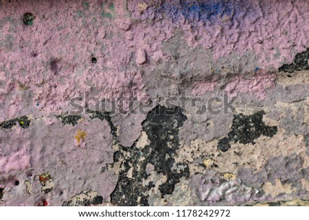 Grunge background with abstract colored texture. Old vintage scratches, stain, paint splats, spots. #1178242972
