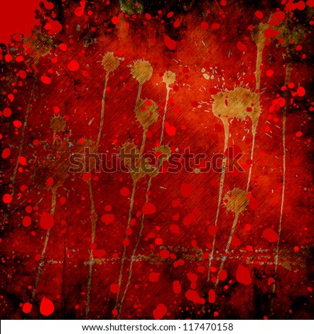 grunge background with abstract paint stains