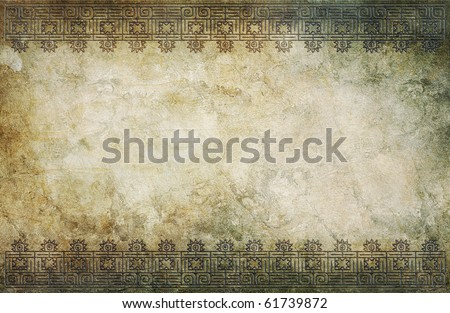 grunge background with american indian pattern and space for text or image - stock photo