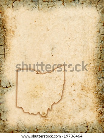 grunge background with an ohio...