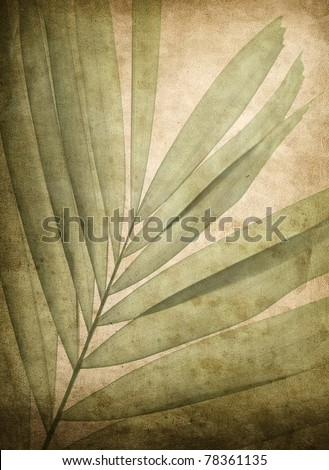 grunge background with leaf pattern