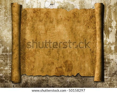 Grunge background with old scroll