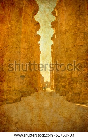 grunge background with the image of Egyptian columns