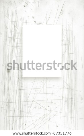 grunge background  with the white rectangle