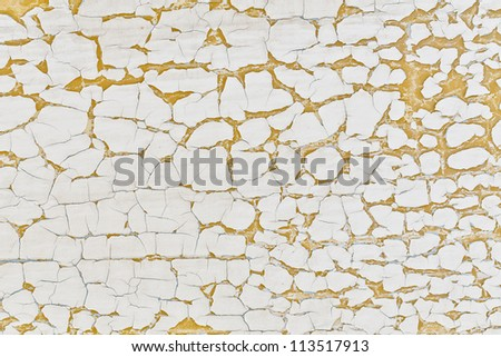 grunge background - wood with cracked paint