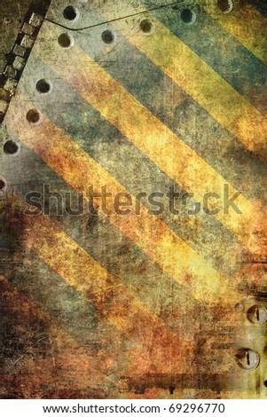 Grunge background, yellow stripes