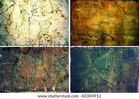 Grunge Backgrounds 4 in 1  hi res grunge textures