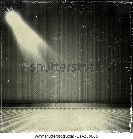 grunge beige paper texture, Background in show. Interior shined with a projector