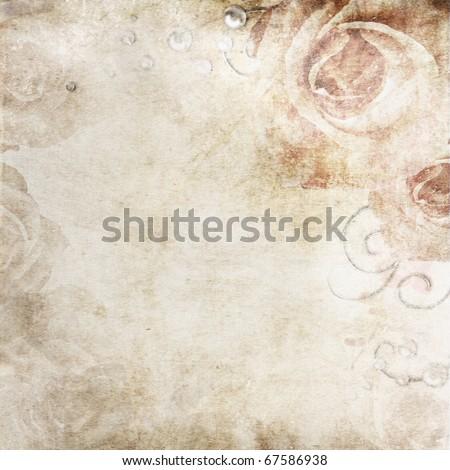 stock photo Grunge beige wedding background