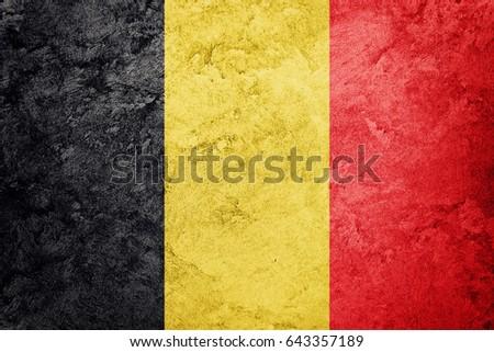 grunge belgium flag. belgian...