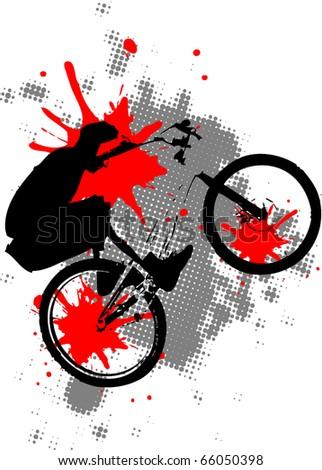 grunge bike background. Look for vector version in my portfolio.