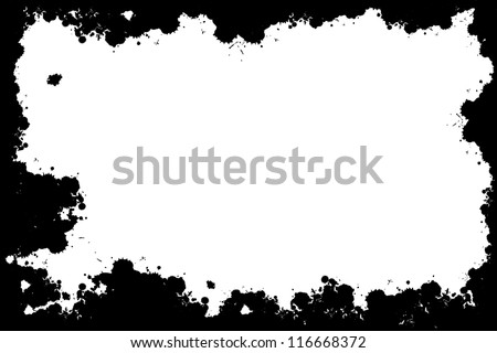 Grunge black abstract spots frame