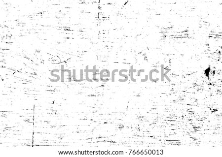 Grunge black and white pattern. Monochrome particles abstract texture. Background of cracks, scuffs, chips, stains, ink spots, lines. Dark design background surface. Gray printing element #766650013