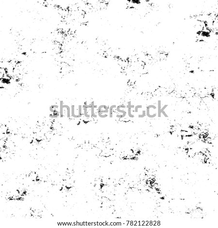 Grunge black and white pattern. Monochrome particles abstract texture. Background of cracks, scuffs, chips, stains, ink spots, lines. Dark design background surface. Gray printing element #782122828