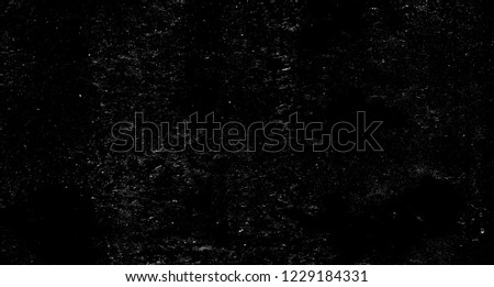 Grunge black and white pattern. Monochrome particles abstract texture. Gray printing element