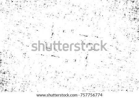 Grunge black and white seamless pattern. Monochrome abstract texture. Background of cracks, scuffs, chips, stains, ink spots, lines. Dark design background surface. Gray printing element #757756774