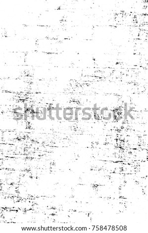 Grunge black and white seamless pattern. Monochrome abstract texture. Background of cracks, scuffs, chips, stains, ink spots, lines. Dark design background surface. Gray printing element #758478508