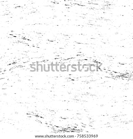 Grunge black and white seamless pattern. Monochrome abstract texture. Background of cracks, scuffs, chips, stains, ink spots, lines. Dark design background surface. Gray printing element #758533969
