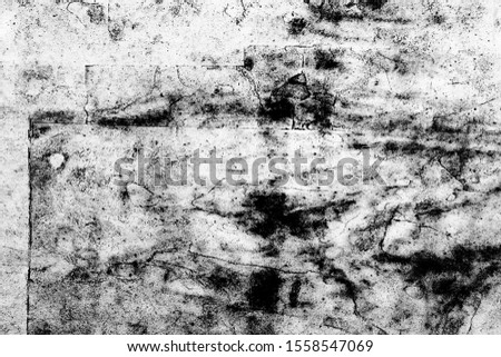 Grunge Black And White Urban Vector Texture Template. Dark Messy Dust Overlay Distress Background. Easy To Create Abstract Dotted, Scratched, Vintage Effect With Noise And Grain #1558547069