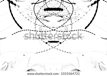 grunge black ink paint.isolated on white background.for new design art or Illustrations,brush