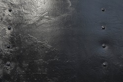 Grunge black metal iron texture background with space for text or image
