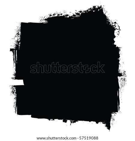 grunge black roller marks with ink effect background